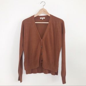 Madewell Rust Hi-low Button Cardigan